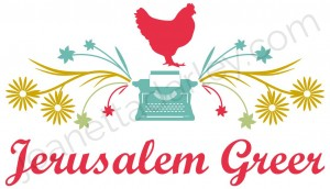 Blog logo design for jerusalemgreer.com